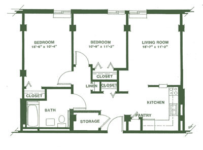 30x30 2 Bedroom Floor Plan Joy Studio Design Gallery